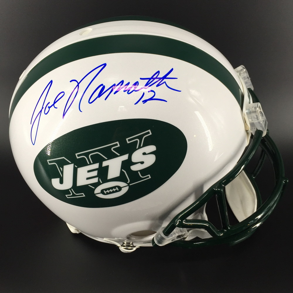 22de6d3df5e NFL Auction | HOF - Jets Joe Namath Signed Proline Helmet