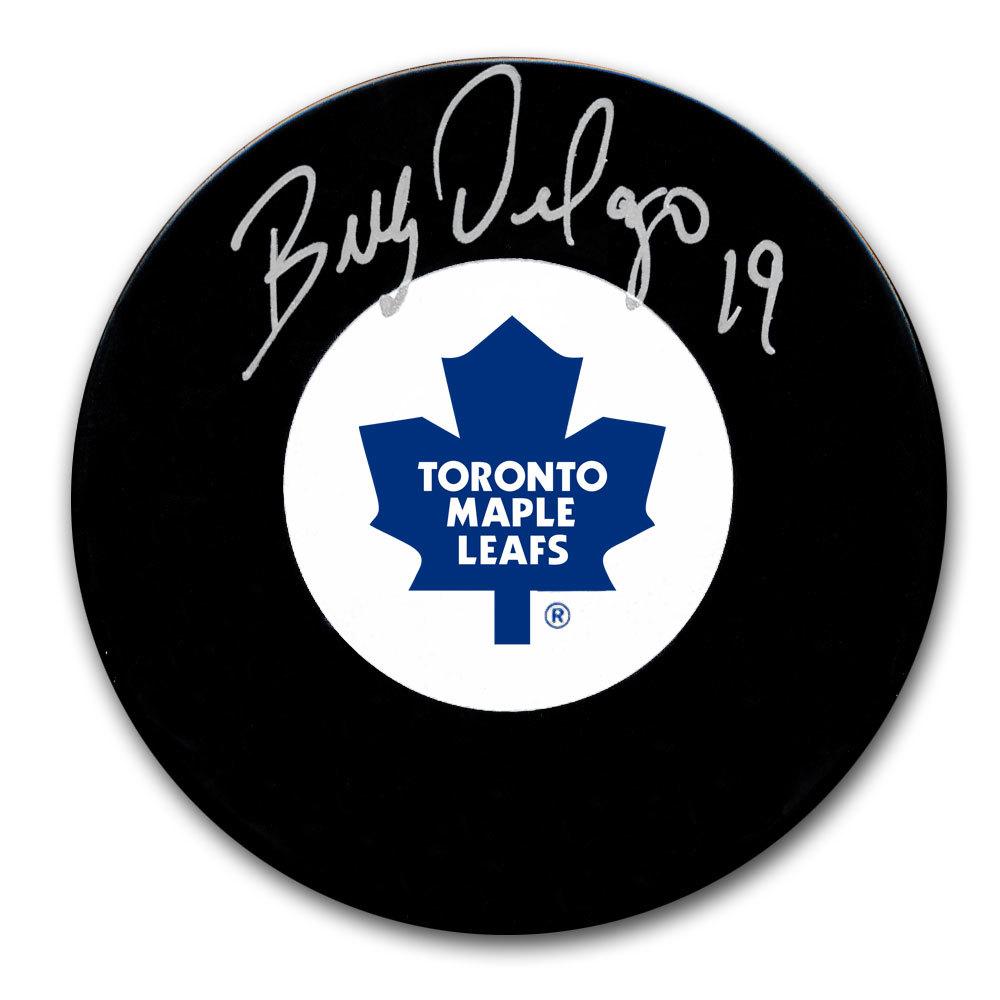 Bill Derlago Toronto Maple Leafs Autographed Puck