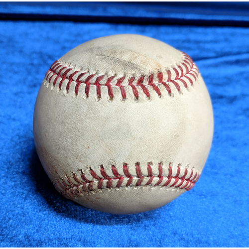 Photo of Shohei Ohtani Foul and Mike Trout Flyout Game-Used Ball