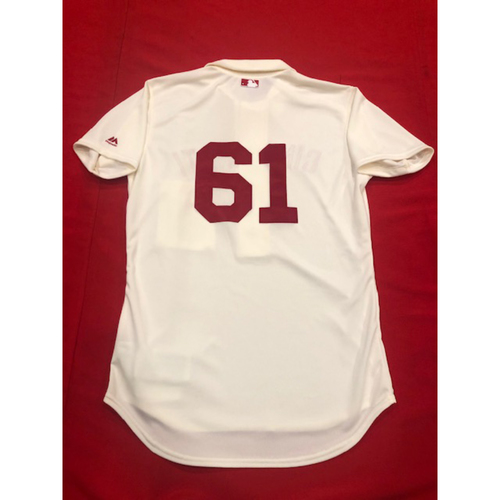 Jeff Pickler -- 1902 Throwback Jersey -- Game-Used -- SF vs. CIN on May 4, 2019