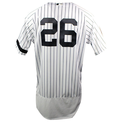 Photo of DJ LeMahieu New York Yankees 2019 Home Opening Day Game Used #26 Pinstripe Jersey (3/28/2019) (Size 46)