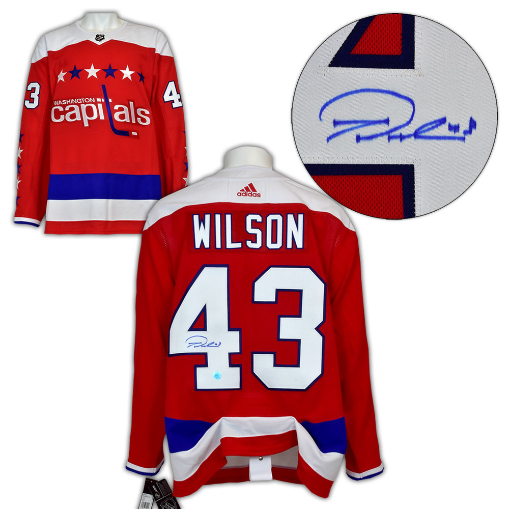 Tom Wilson Washington Capitals Signed Retro ALT Adidas Authentic Hockey Jersey