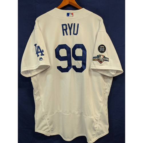 Photo of Hyun-Jin Ryu Team Issued 2019 Home Postseason Jersey
