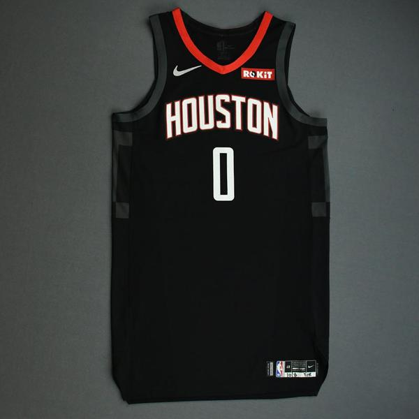 Image of Russell Westbrook - Houston Rockets - Game-Worn Statement Edition Jersey (1 of 2) - NBA Japan Games - 2019-20 NBA Season