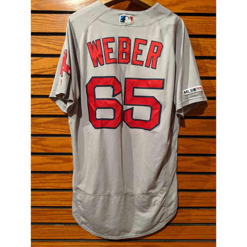 Photo of Ryan Weber Game Used Road Gray Jersey
