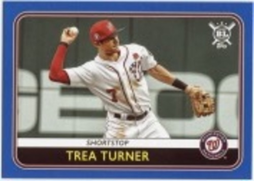 Photo of 2020 Topps Big League Blue #86 Trea Turner