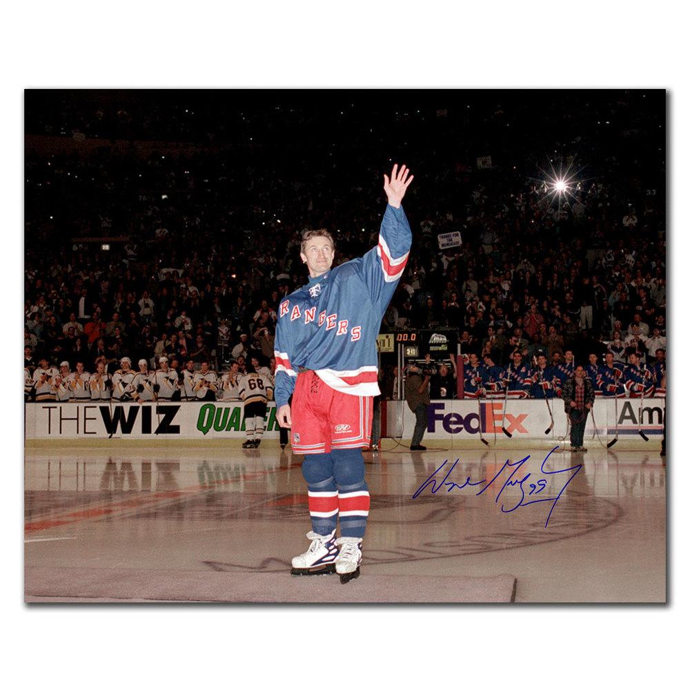 Wayne Gretzky New York Rangers LAST NHL GAME Autographed 16x20