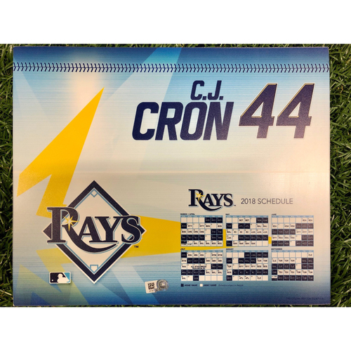 Photo of Rays Baseball Foundation: Game Used Opening Day Locker Tag: C.J. Cron - March 29, 2018 v BOS