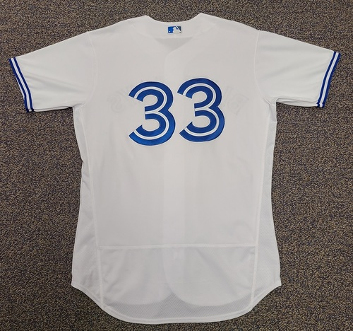 Photo of Authenticated Team Issued 2020 Summer Training Camp Jersey: #33 Ruben Tejada. Size 46.