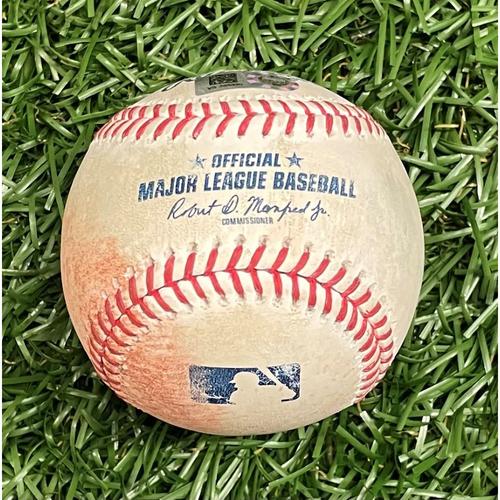 Photo of Game Used Baseball: Vladimir Guerrero Jr. single off Tyler Glasnow - Top 1 - April 23, 2021 v TOR