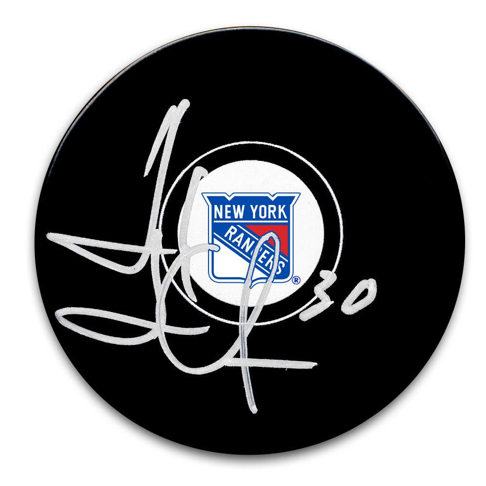 Henrik Lundqvist New York Rangers Autographed Puck