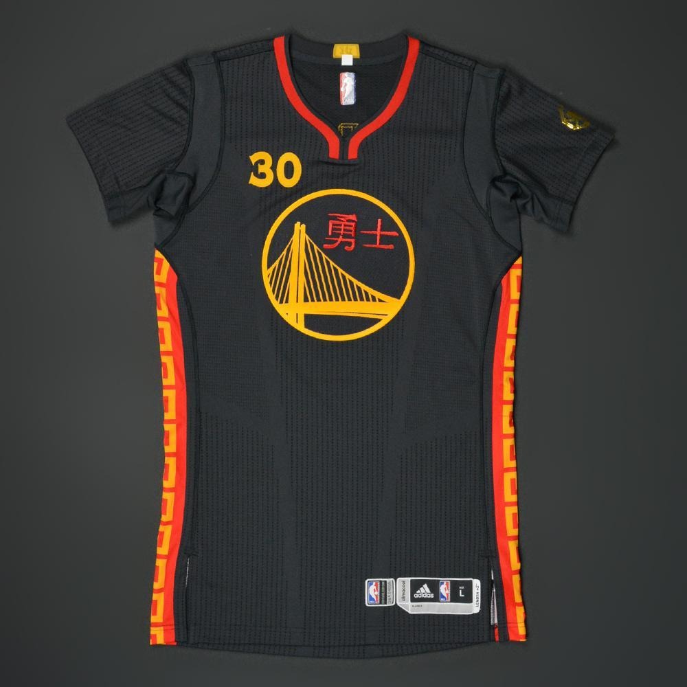 new product 77f52 4b936 Stephen Curry - Golden State Warriors - Game-Worn 'Chinese ...