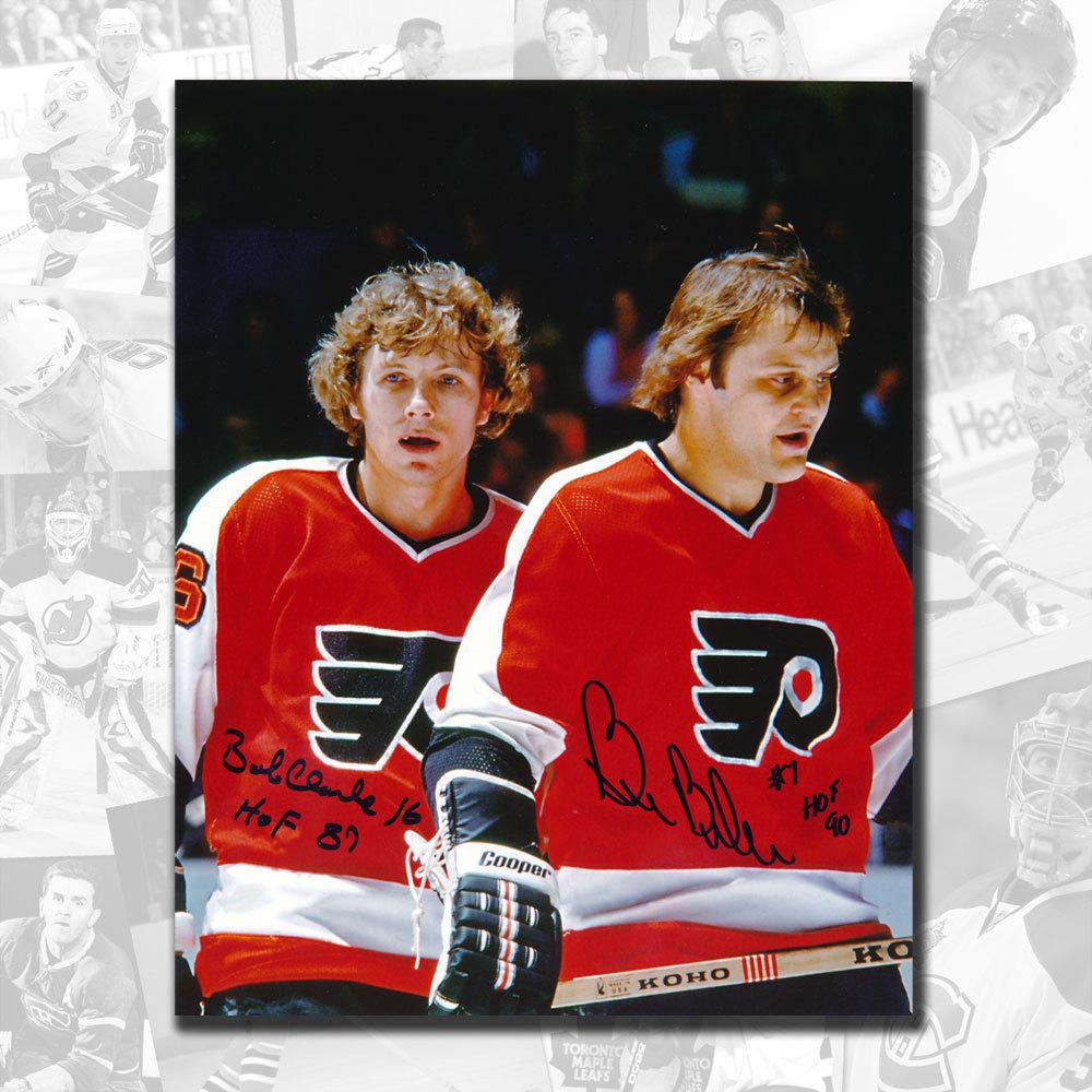 Bobby Clarke & Bill Barber Philadelphia Flyers HOF Dual Autographed 16x20