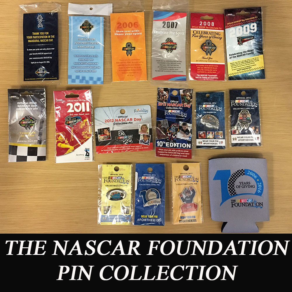 The NASCAR Foundation Complete Pin Collection 2004-2017!