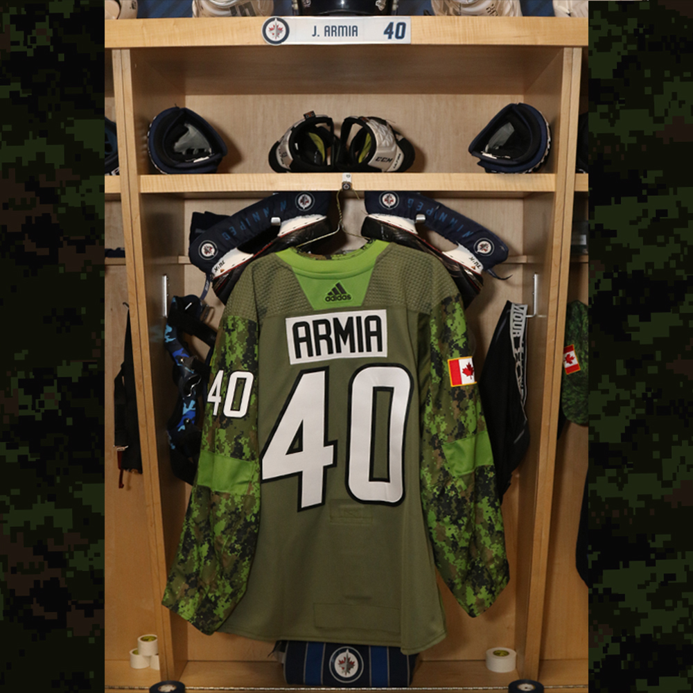 JOEL ARMIA  Warm Up Worn Canadian Armed Forces Jersey