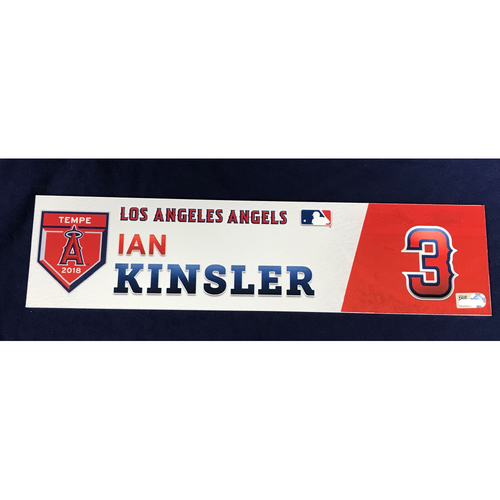 Photo of Ian Kinsler 2018 Spring Training Locker Tag