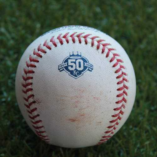Photo of Game-Used Baseball: Jeimer Candelario 136th Career Hit (DET @ KC - 8/28/18)