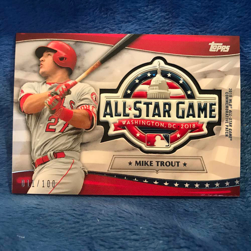 Photo of UMPS CARE AUCTION: 2018 Topps All-Star Game Mike Trout Commemorative Card/Patch