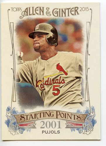 Photo of 2015 Topps Allen and Ginter Starting Points #SP2 Albert Pujols