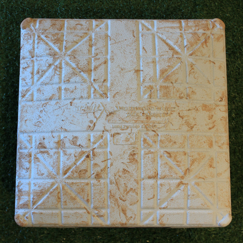 Game-Used 2nd Base: Rafael Devers 40th Career Home Run (Innings 6-9 - BOS @ KC - 6/5/19)