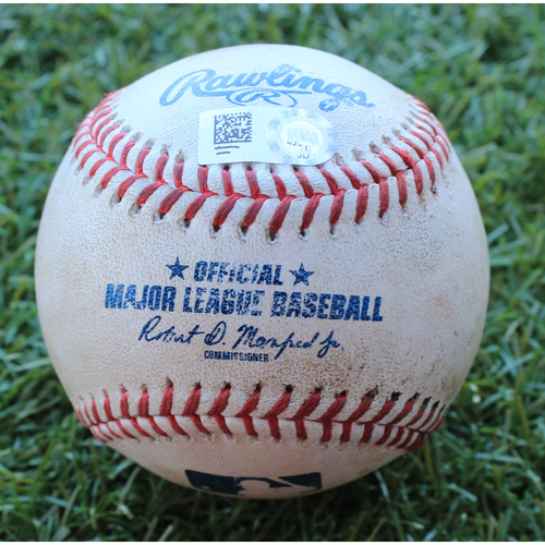Photo of Game-Used Baseball: Harold Castro 35th Career Hit and Nick Castellanos 849th Career Hit (DET @ KC - 7/14/19)
