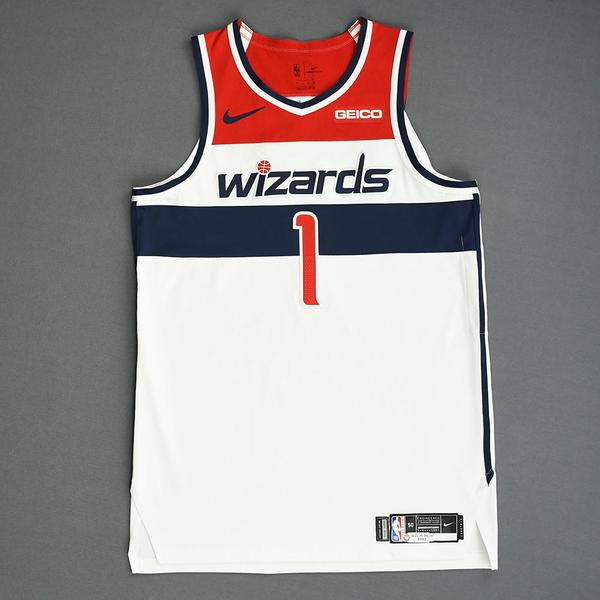 Image of Admiral Schofield - Washington Wizards - Game-Worn Association Edition Rookie Debut Jersey - 2019-20 Season