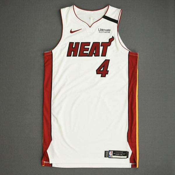 Image of KZ Okpala - Miami Heat - Game-Issued Association Edition Jersey - 2019-20 NBA Season Restart with Social Justice Message