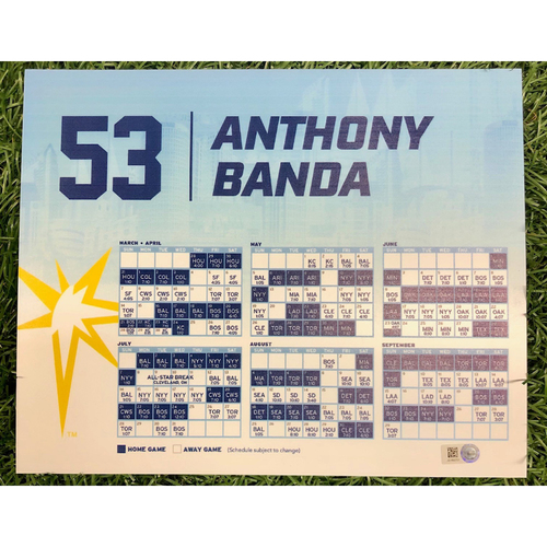 Photo of Rays Baseball Foundation: Game Used Opening Day Locker Tag: Anthony Banda - March 28, 2019 v HOU