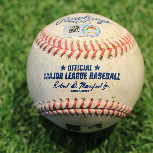 Photo of Game-Used Baseball: Andrew Vaughn 6th Career Double & 3rd Career RBI (CWS@KC 5/8/21)
