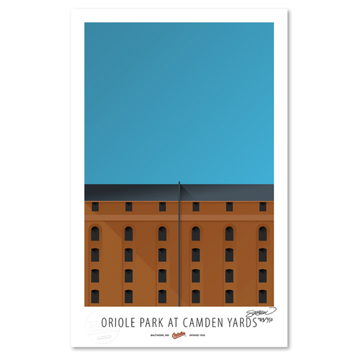 Photo of Camden Yards - Collector's Edition Minimalist Art Print by S. Preston Limited Edition /350  - Baltimore Orioles