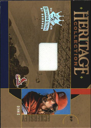 Photo of 2005 Diamond Kings Heritage Collection Jersey #6 Dennis Eckersley/100