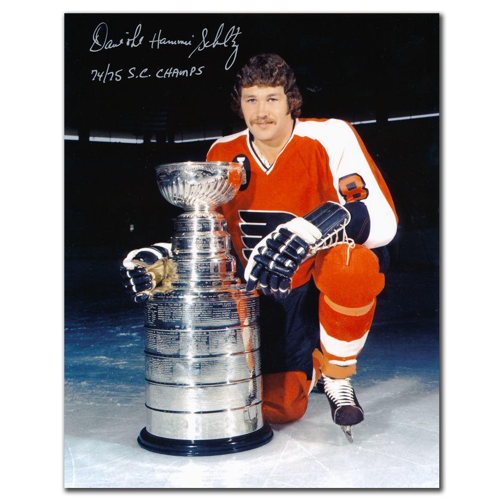 Dave Schultz Philadelphia Flyers 74/75 SC Champs Autographed 8x10