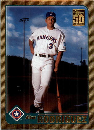 Photo of 2001 Topps Gold #612 Alex Rodriguez Rangers