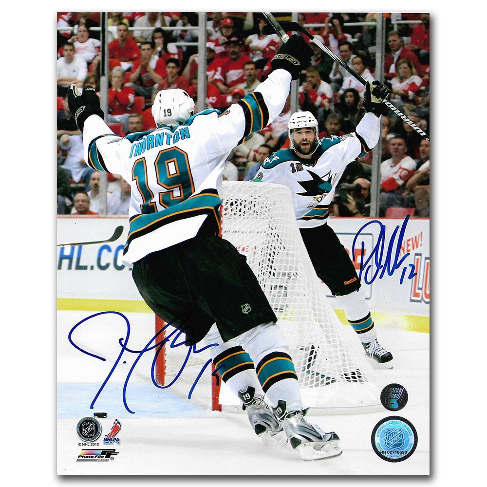 Patrick Marleau & Joe Thornton Autographed San Jose Sharks 8X10 Photo