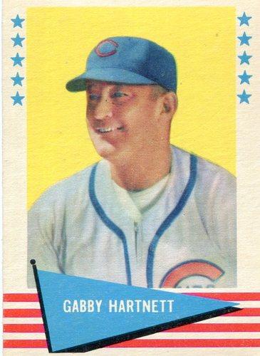 Photo of 1961 Fleer #41 Gabby Hartnett -- Hall of Fame Class of 195