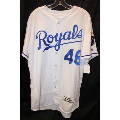 Photo of Game-Used Jersey: Ramon Torres 18th Career Hit (ARI at KC - 9/30/17)