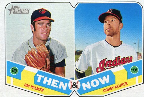 Photo of 2018 Topps Heritage Then and Now #TN12 Corey Kluber/Jim Palmer