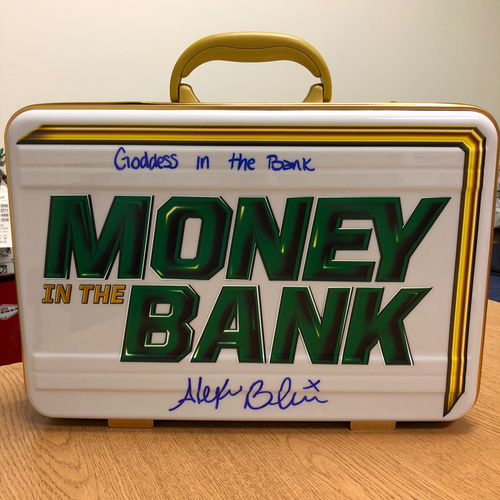 Photo of Alexa Bliss SIGNED Women's Money In The Bank Commemorative Briefcase (MITB - 06/17/18)