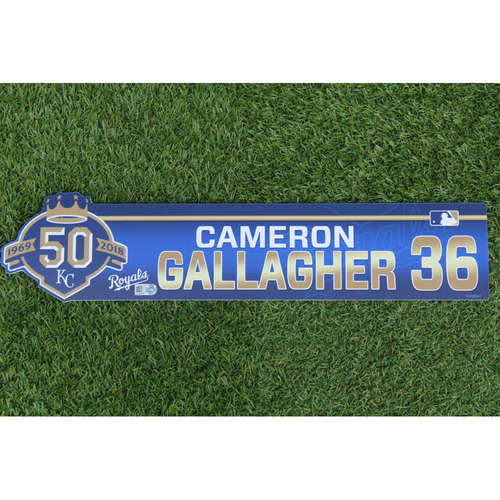Photo of Game-Used Locker Nameplate: Cam Gallagher