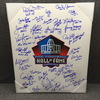 HOF - Multi Signed 16x20 HOF logo canvas print (including Warren Moon, Tony Dungy, Kellen Winslow, Anthony Munoz, James Lofton, over 30 signatures)