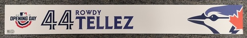 Photo of Authenticated Game Used Opening Day 2019 Locker Tag - #44 Rowdy Tellez