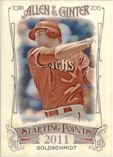 Photo of 2015 Topps Allen and Ginter Starting Points #SP4 Paul Goldschmidt