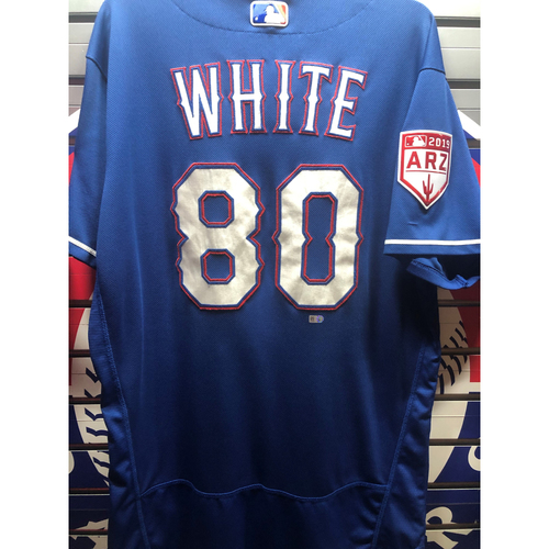 Photo of Eli White Team-Issued Spring Training Jersey