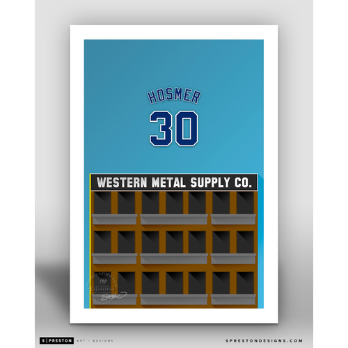Photo of Minimalist Petco Park Eric Hosmer Player Series Art Print by S. Preston - Limited Edition