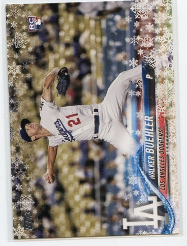 Photo of 2018 Topps Walmart Holiday Snowflake #HMW61 Walker Buehler RC