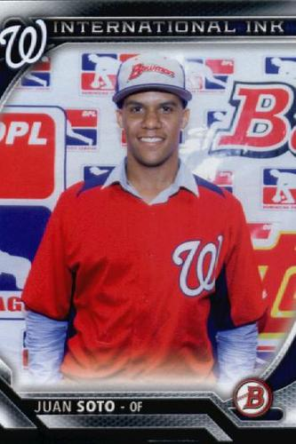 Photo of 2016 Bowman International Ink #IIJS Juan Soto