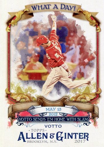 Photo of 2017 Topps Allen and Ginter What a Day #WAD51 Joey Votto