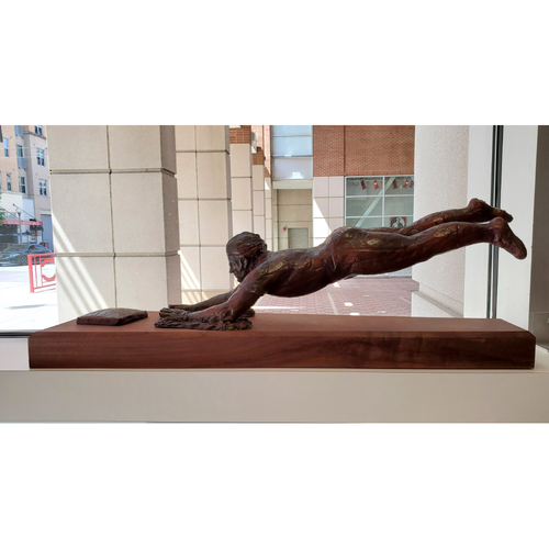 Photo of 1/5th Scale Pete Rose Bronze Replica Statue