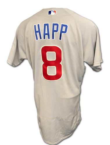 Photo of Ian Happ Team-Issued Jersey -- 2020 Season -- Size 44T