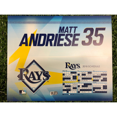 Photo of Rays Baseball Foundation: Game Used Opening Day Locker Tag: Matt Andriese - March 29, 2018 v BOS
